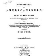 Woordenboek van Americanismen: een lijst van woorden en zinnen, gewoonlijk als eigenaardig aan de Vereenigde Staten beschouwd