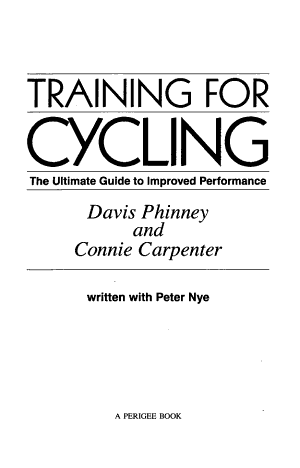 Training for Cycling
