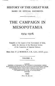 The Campaign in Mesopotamia 1914 1918 PDF