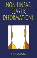 Non Linear Elastic Deformations PDF