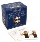Barron s 500 Flash Cards of American Sign Language