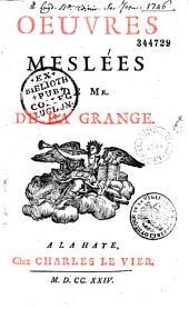 Oeuvres de M. de La Grange-Chancel