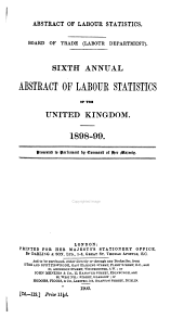 Abstract of Labor Statistics