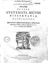 Devero Systemate Mundi Dissertatio Mathematica