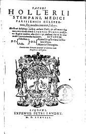 Iacobi Hollerii De morbis internis: libri 2