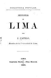 Sociología de Lima: Volumen 1