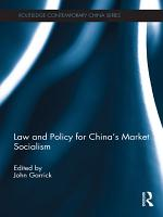 Law and Policy for China s Market Socialism PDF