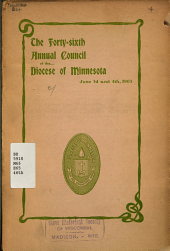 Journal of the Proceedings of the ... Annual Council of the Diocese of Minnesota