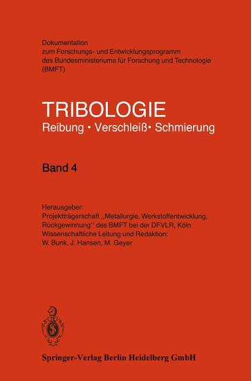 Tribologie PDF