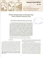 Phloem temperatures in mountain pine bettle-infested ponderosa pine