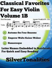 Classical Favorites for Easy Violin Volume 1 B