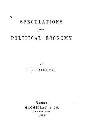 Speculations from Political Economy PDF