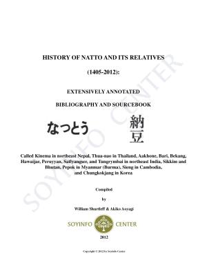 History of Natto and Its Relatives  1405 2012