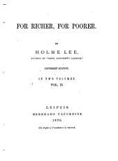 For Richer, for Poorer: In 2 Vol, Volume 1