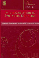 Microvariation in Syntactic Doubling