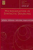 Microvariation in Syntactic Doubling PDF