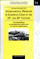 Environmental Problems in European Cities in the 19th and 20th Century PDF