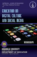 Education on Digital Cultural and Social Media PDF