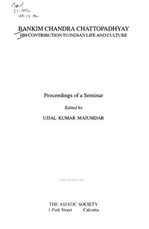 Bankim Chandra Chattopadhyay PDF