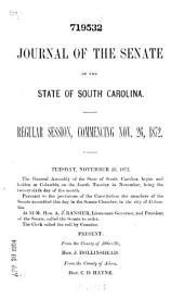 Journal of the Senate of the General Assembly of the State of South Carolina