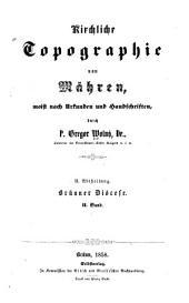 Kirchliche Topographie von Maehren: Olmuetzer Erzdioecese. 5 b