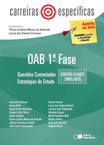 Cole    o Carreiras Espec  ficas   OAB   1   fase   Quest  es comentadas PDF