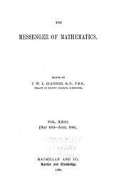 The Messenger of Mathematics: Volume 23