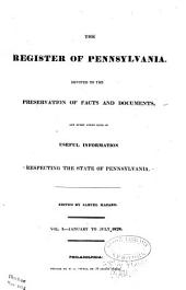 Hazard's Register of Pennsylvania: Volume 1