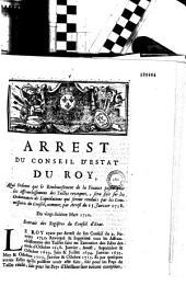 Arrest du Conseil d'Estat du roy, qui ordonne que le remboursement de la finance payée pour les affranchissemens des tailles revoquez, sera fait sur les ordonnances de liquidations qui seront renduës par les commissaires du Conseil, nommez par arrest du 15. janvier 1718. Du vingt-sixiéme mars 1720. Extrait des registres du Conseil d'Etat