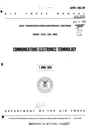 USAF Communications electronics Doctrine  Short Title  CED 3900 PDF