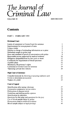 The journal of criminal law PDF