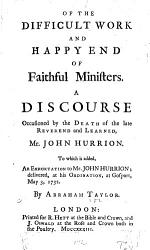 Of The Difficult Work And Happy End Of Faithful Ministers Book PDF