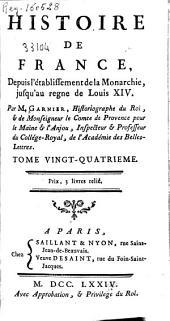 Histoire de France, depuis l'établissement de la Monarchie, jusqu'au regne de Louis XIV: Volume12