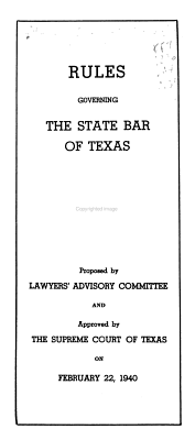 Rules Governing the State Bar of Texas