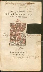 M. T. Ciceronis Orationum volumina tria: ¬M. ¬T. ¬Ciceronis Orationum volumen tertium. 3