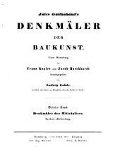 Jules Gailhabaud's Denkmäler des baukunst: Band 3