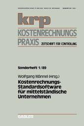Kostenrechnungs-Standardsoftware für mittelständische Unternehmen