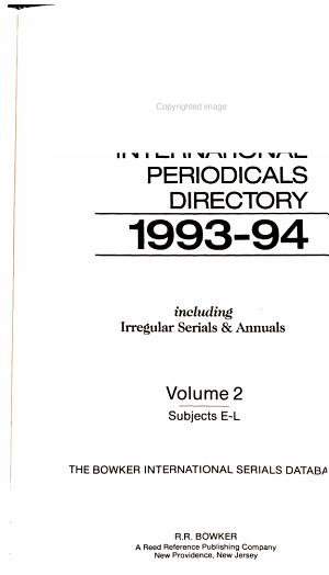 Ulrich's International Periodicals Directory, 1993-1994