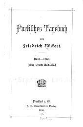Poetisches Tagebuch, 1850-1866: (aus seinem Nachlasse.)