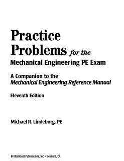 Practice Problems for the Mechanical Engineering PE Exam Book