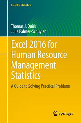 Excel 2016 for Human Resource Management Statistics PDF