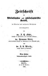 Zeitschrift für Philosophie und philosophische Kritik: Vormals Fichte-Ulricische Zeitschrift, Bände 36-37