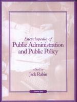Encyclopedia of Public Administration and Public Policy  K Z PDF