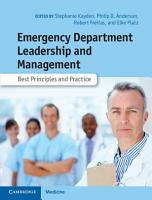 Emergency Department Leadership and Management PDF