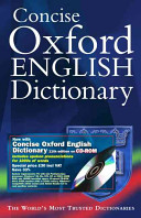 Concise Oxford English Dictionary Book PDF