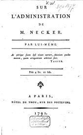 Sur l'administration de M. Necker