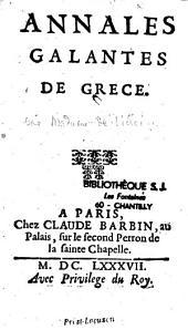 Annales galantes de Grèce...
