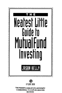 The Neatest Little Guide to Mutual Fund Investing Book
