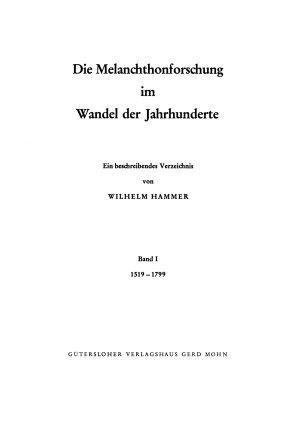 Die Melanchthonforschung im Wandel der Jahrhunderte PDF