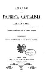 Analisi della proprietà capitalista: Volume 1